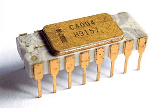 Intel 4004 4-bit central processing unit