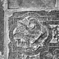 Interieur, grafzerk in koor, detail afbeelding evangelisten symbool (A), in hoek priesterzerk. - Reeuwijk - 20374732 - RCE.jpg