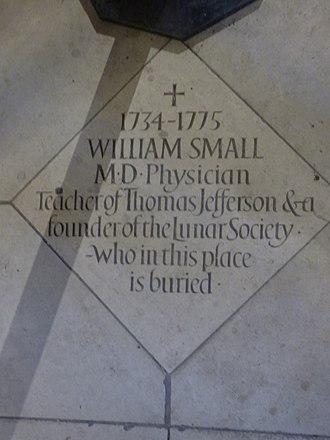William Small - Memorial to William Small in Birmingham Cathedral