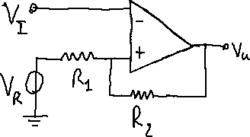Inverting Schmitt trigger circuit.png