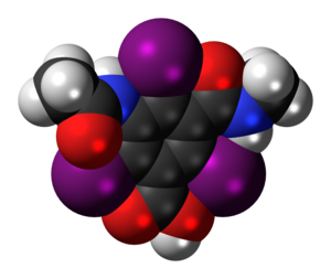 Iotalamic acid - Image: Iotalamic acid 3D spacefill