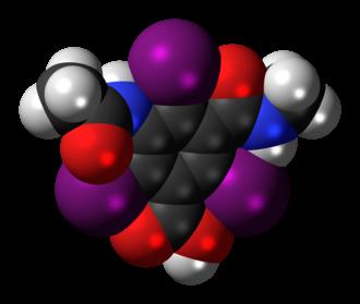 Iotalamic acid - Image: Iotalamic acid 3D spacefill