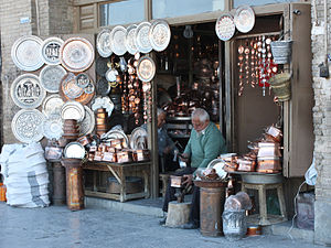 Grand Bazaar, Isfahan - A handicraft maker-seller