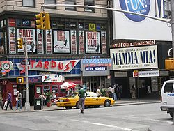 L'Iridium Jazz Club, sur Broadway à Times Square