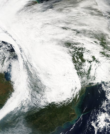 Hurricane Isabel's extratropical remnant over the Northeastern United States on September 19 Isabel 2003-09-19 1820Z.jpg