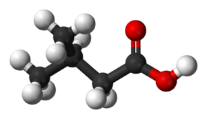 3-Methylbutanoic acid - Image: Isovaleric acid 3D balls