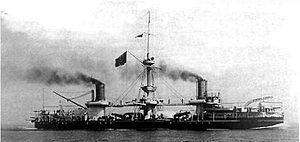 Ruggiero di Lauria-class ironclad - Andrea Doria underway on 18 April 1899