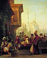 Ivan Constantinovich Aivazovsky - Coffee-house by the Ortaköy Mosque in Constantinople.JPG