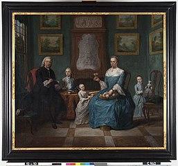 Simon van der Stel (1692-1780) en zijn echtgenote Catharina Keyser (1726-1806) en hun drie kinderen Willem (1759-1838), Maria Jacoba (1759-1831) en Catharina Anthonia (1760-1809)