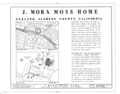 J. Mora Moss House, Broadway and MacArthur Boulevard, Oakland, Alameda County, CA HABS CAL,1-OAK,2- (sheet 1 of 12).png