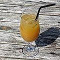 J2O orange and passion fruit soft drink at Matching Green, Essex, England.jpg
