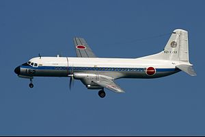 403rd Tactical Airlift Squadron (JASDF) - 403rd Squadron NAMC YS-11P in flight
