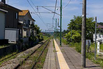 Raihai Station - platform, June 2010