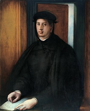 Siege of Florence (1529–30) - Portrait of Alessandro de' Medici. Oil on canvas by Jacopo Pontormo 1534–1535. The victorious German–Spanish troops installed Alessandro as Duke of Florence.