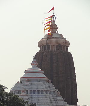 Vimana (architectural feature) - The Vimana of the Jagannath Temple at Puri in the Kalinga style of architecture