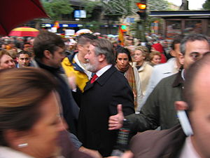 Jaime Mayor Oreja en la manifestacion contra el gobierno de Zapatero convocada por la AVT en noviembre de 2006