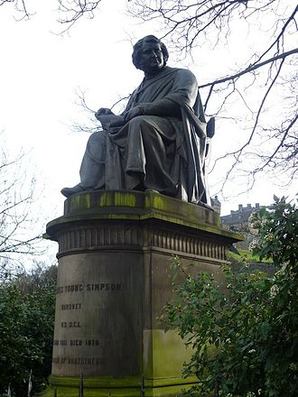 James Young Simpson - Sir James Young Simpson statue, West Princes Street Gardens, Edinburgh