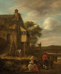 Landscape with Figures before a House