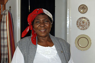 Xhosa people - Xhosa woman from the Transkei living in the Western Cape