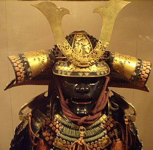 Japanese helm and armor, from Metropolitan Mus...