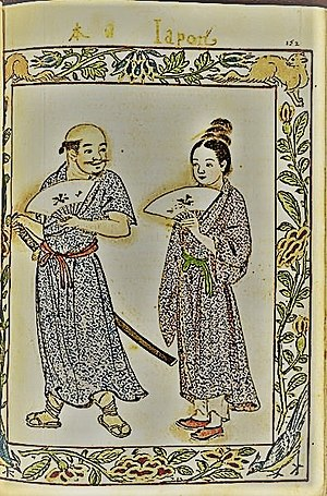 Japanese diaspora - Japanese people living in the Philippines as portrayed in Boxer codex 1590