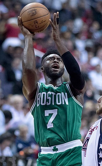 Jaylen Brown - Brown with the Celtics in 2017