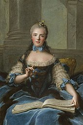 Nattier: Madame Adélaïde de France mit Musiknoten (1758) (Quelle: Wikimedia)