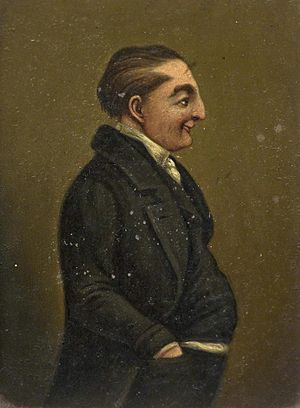 The Museum of Gloucester - A miniature of Jemmy Wood, the famous Gloucester Miser, from the art collection.