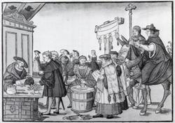 Jeorg Breu Elder A Question to a Mintmaker c1500