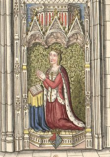 daughter of John II of France (called The Good), and his first wife, Bonne of Luxembourg, as wife of Charles II of Navarre (called The Bad) Queen-consort of Navarre