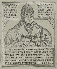 Johannes Agricola, Holzschnitt von Balthasar Jenichen, 1565 (Quelle: Wikimedia)