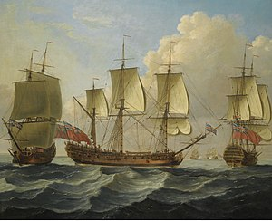 John Cleveley the Elder - An East Indiamam in three pasitions.jpg