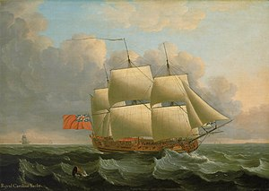 HMY Royal Caroline (1750) - Image: John Cleveley the Elder The 'Royal Caroline'