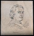 John Dryden; portrait. Drawing, c. 1793. Wellcome V0009253EL.jpg