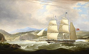 Jamaica Station (Royal Navy) - The barque Woodmansterne calling for a pilot at Port Royal