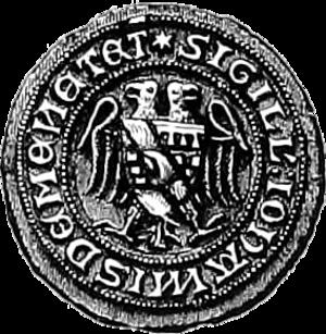 John de Menteith - Seal of John de Monteith (c.1297)