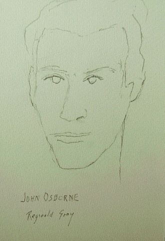 John Osborne - Osborne by Irish artist Reginald Gray, London (1957)