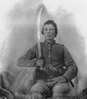 Cavalry in the American Civil War - Sgt. John Richard Whitehead, Company G, 6th Battalion, Virginia Cavalry, Pittsylvania County, Virginia