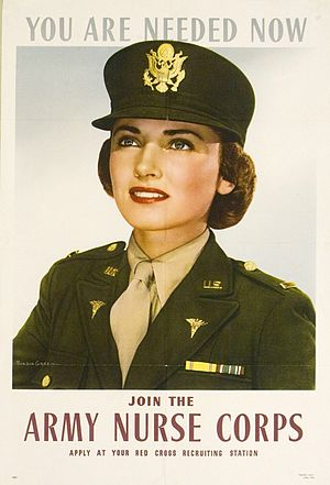 "Psychiatric and mental health nursing in the United States Army - ""Join the Army Nurse Corps"" picture, circa June 1943"