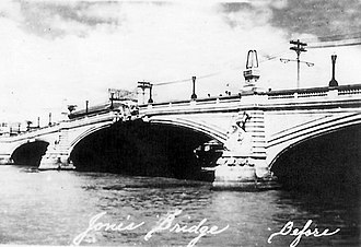 Battle of Manila (1945) - Jones Bridge before