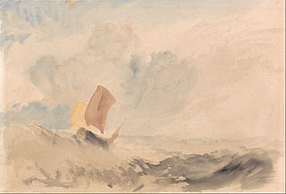 A Rough Sea with a Fishing Boat