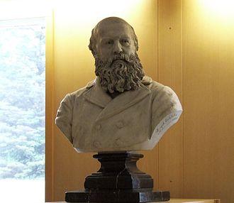 Konrad Maurer - Bust of Konrad Maurer by the sculptor Joseph Echteler (1888), today in the National and University Library of Iceland