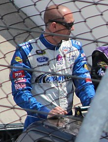 Josh Wise at Martinsville driver introductions April 2013.jpg