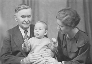 John Robert Boyle - Boyle in 1935 with his daughter, Helen, and grandson, Ian