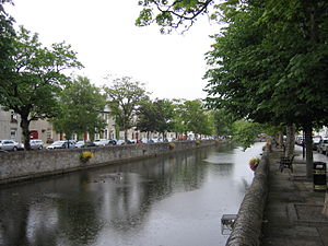 Westport, County Mayo - Mall along Carrowbeg River in Westport