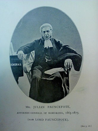 Julian Pauncefote, 1st Baron Pauncefote - Julian Pauncefote as Attorney-General of Hong Kong