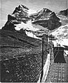 Jungfrau Railway, approaching the Eiger, Switzerland (CJ Allen, Steel Highway, 1928).jpg