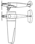 Junkers W 33 'Bremen' 2-view L'Aérophile May,1928.png
