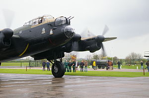 The Doctor, the Widow and the Wardrobe -  The Lincolnshire Aviation Heritage Centre's preserved Lancaster bomber Just Jane, used in the programme