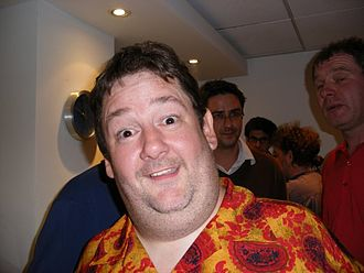 Johnny Vegas - Vegas backstage at the filming of an episode of QI, June 2007